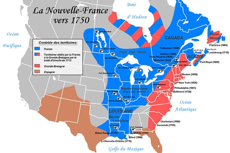 ニューフランス地図