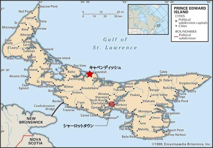 プリンス・エドワード島地図